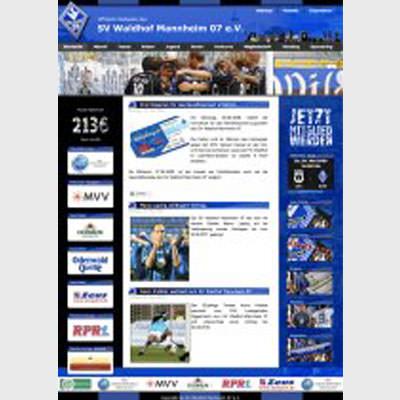 SV Waldhof Mannheim - Webdesign