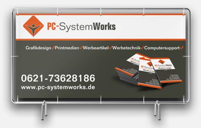 Werbetechnik Mannheim | Werbebanner Banner PVC-Plane